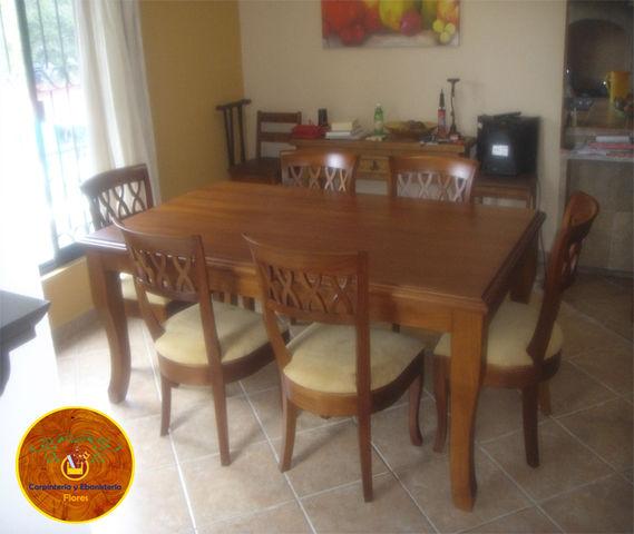Comedor en madera de cedro sillas hergonomicas   carpintería y ...