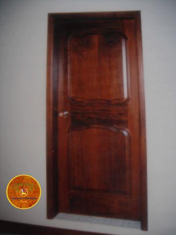 Puerta para recamara en madera de cedro carpinter a y for Puertas para recamara economicas